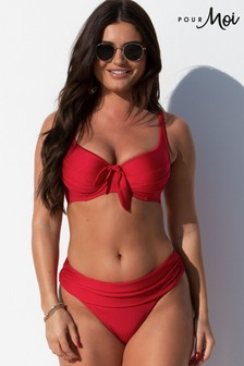 Pour Moi Red Azure Fold Over Brief