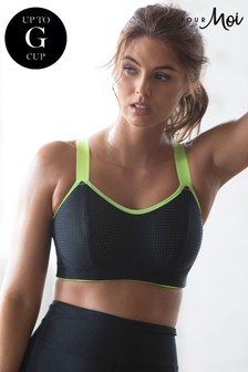 Pour Moi Black Energy Underwired Lightly Padded Convertible Sports Bra E+