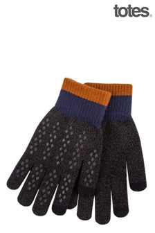 Totes Charcoal Mens SmarTouch Stretch Glove