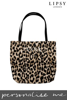 Personalised Lipsy Leopard Tote Bag by Instajunction