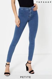 """Topshop Blue Petite Mid Blue Joni Jeans 28"""" Leg"""