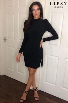 Abbey Clancy x Lipsy High Neck Drape Dress