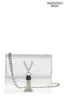 Valentino Bags Silver Divina Cross Body Bag