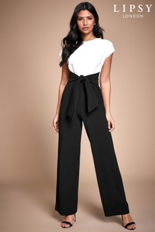 Lipsy Monochrome 2 In 1 Self Tie Jumpsuit