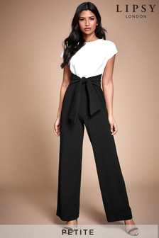Lipsy Monochrome Petite 2 In 1 Self Tie Jumpsuit