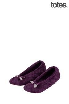 Totes Purple Isotoner Popcorn Ballet
