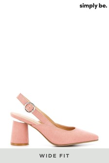 Simply Be Wide Fit Slingback Almond Toe Court Shoe