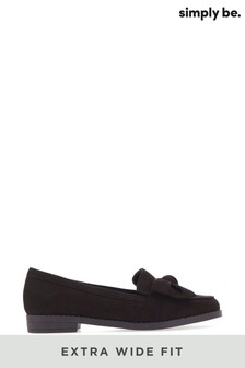 Simply Be Extra Wide Fit Twist Front Flat Loafer