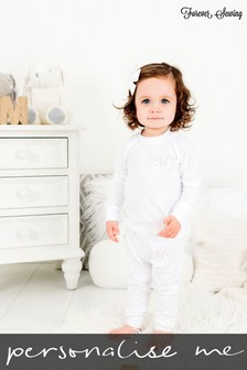 Personalised White Two Piece Loungesuit By Forever Sewing