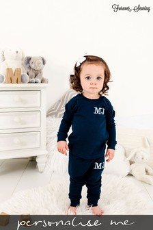 Personalised Navy Two Piece Loungesuit By Forever Sewing