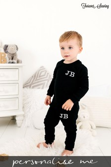 Personalised Black Two Piece Loungesuit By Forever Sewing