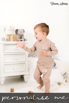 Personalised Mocca Two Piece Loungesuit By Forever Sewing