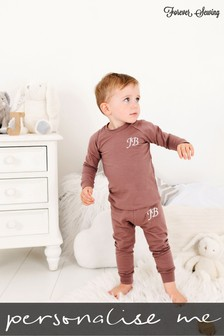 Personalised Taupe Two Piece Loungesuit By Forever Sewing
