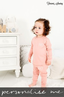 Personalised Peach Two Piece Loungesuit By Forever Sewing