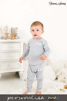 Personalised Silver Grey Two Piece Loungesuit By Forever Sewing
