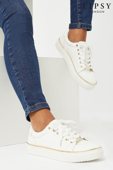 Lipsy White Metal Rand Trainers