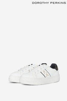 Dorothy Perkins Blush Lace Up Pearl Trainer