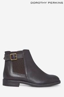 Dorothy Perkins Brown Oak Buckle Chelsea Boot