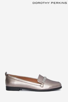Dorothy Perkins Grey Lightning Bling Trim Loafer