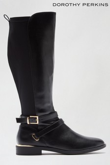 Dorothy Perkins Black Dorothy Perkins Keeper Cross Strap Riding Boot