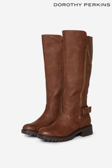 Dorothy Perkins Chocolate Riding Boots