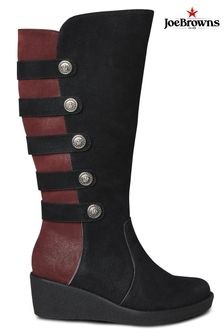 Joe Browns Black After Dark Wedge Boots