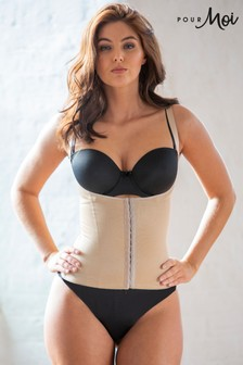 Pour Moi Lingerie Nude Hourglass Firm Control Back Smoothing waist Cincher