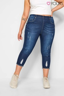 Yours Curve Cat Scratch Crop Jegging