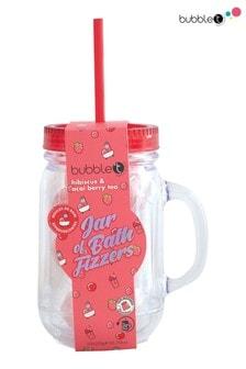 Bubble T Jar of Bath Fizzers Hibiscus & Acai Berry Tea 11 x 20g