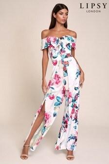 Lipsy Bardot Printed Jumpsuit