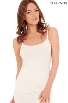 Charnos White Second Skin Thermal Strappy Camisole Top