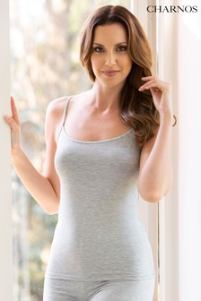 Charnos Grey Second Skin Thermal Strappy Camisole Top
