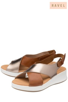 Ravel Brown Padded Strap Sandal
