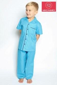 Cyberjammies Blue Paisley Print Pyjama Set