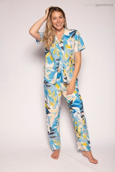 Cyberjammies Blue and Yellow Lemon Printed Top And Pant