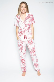 Cyberjammies Red Tiger Mix Printed Top And Pant