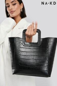 NA-KD Squared Handle Shopper Bag