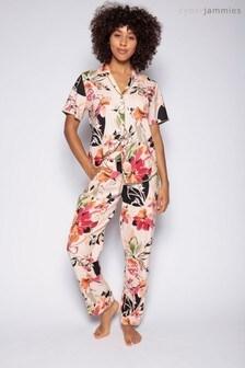 Cyberjammies Peach Floral Printed Top And Pant