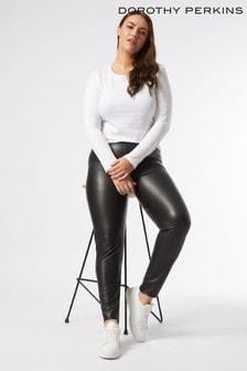 Dorothy Perkins Black Curve Faux Leather Legging