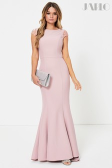 Jarlo Lace Back Detail Fishtail Maxi Dress