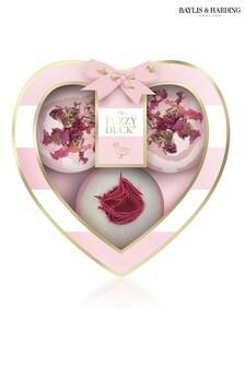 Baylis & Harding The Fuzzy Duck Pink Gin 3 Fizzers Gift Set - 3 x Bath 120g Fizzers