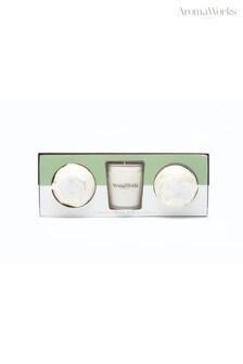 AromaWorks Light Range Lemongrass & Bergamot 10cl Candle & Mini Aromabomb Gift Set