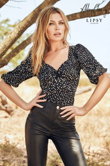 Abbey Clancy x Lipsy Spot Neck Top