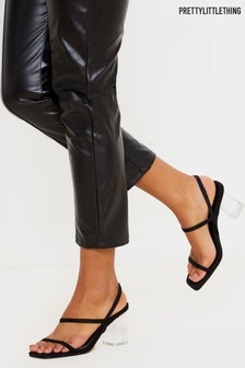 PrettyLittleThing Strappy Cleared Heeled Sandal