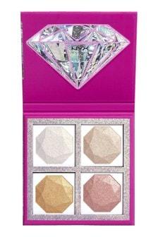 NYX Professional Make Up Diamonds & Ice Please Diamond Highlighting Palette Quad