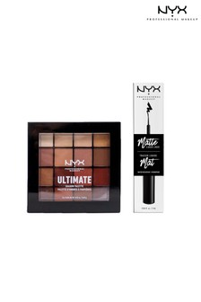 NYX Professional Make Up Diamonds & Ice Please Ultimate Shadow Palette Warm Neutrals and Matte Liquid Eye Liner