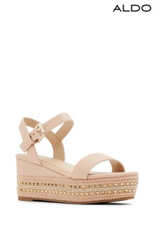 Aldo Nude Sandals With Espadrille