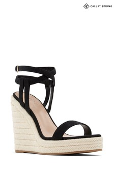 Call It Spring Espadrille Wedge in Black