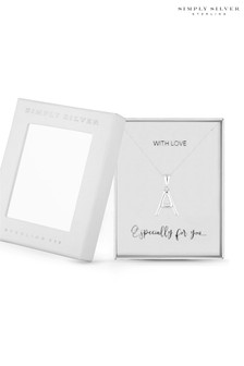Simply Silver Sterling Silver 925 Polished Alphabet A Pendant
