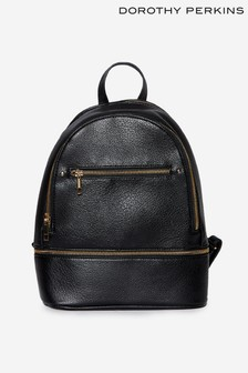 Dorothy Perkins Black Black Double Zip Back Pack